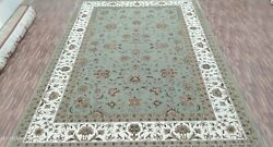 5 1.8x2.4m And0396and039 1.8x2.7m6 Tapis Moderne Luxe Main Nouandeacute Wool-silk Lt Green-ivory