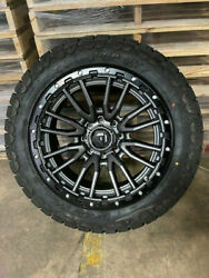 22x10 Fuel D680 Rebel Gray Wheels Rims 34 At Tires 6x135 Ford F150 Expedition
