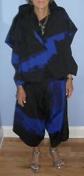 Nwot Women's Issey Miyake Co-ord 3 Piece Set Top, Pants And Jacket  Size 3