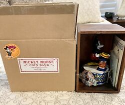 Pride Lines Mint New Walt Disney Mickey Mouse Mechanical Bank In Box