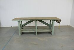 Vintage Workbench With Removable Top- Post 1950and039s