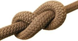 Double Braided Polyester Classic Dock Ø12-1 3/16in Hemp And White Gottifredi