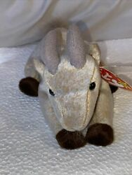 Rare Beanie Baby Plush Doll Ty toy quot;Goateequot; the Goat. New. Tag Errors 1998 99