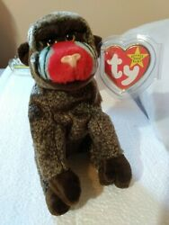 Beanie Baby Plush Doll Ty toy quot;Cheeksquot; Perfect swing amp; tush tags. New