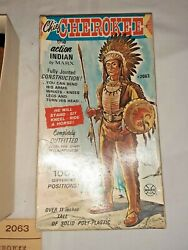 1960s Marx Chief Cherokee Box And Accessories 8 Fig Included  Johnny West Serie