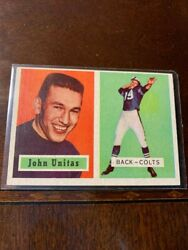 1957 Topps Unitas Rookie, Mint, Pulled From Cello Pack 30 Yrs Ago Razor Sharp