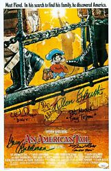 Don Bluth Phillip Glasser +4 Signed 11x17 An American Tail Authentic Jsa Coa