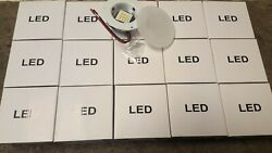 Qty 15 Recessed Led 3 1/2 Inch 12v Puck Interior Glass Ceiling Light Rv Camper