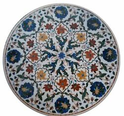 36 Marble Dining Table Top Inlay Rare Stones Round Center Coffee Table Ar1145
