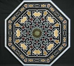 36 Marble Dining Table Top Inlay Rare Stones Octagon Center Coffee Table Ar1151