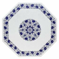 36 Marble Dining Table Top Inlay Rare Stones Octagon Center Coffee Table Ar1155