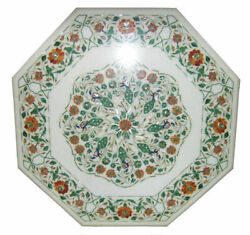 36 Marble Dining Table Top Inlay Rare Stones Octagon Center Coffee Table Ar1156