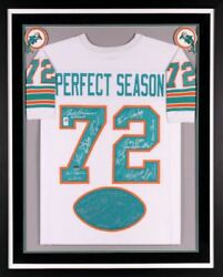 Miami Dolphins 1972 Team Signed 40th Anniversary Jersey Deluxe Framed