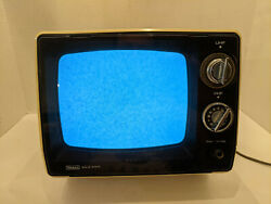 """Vtg 1975 Sears Solid State Portable 9"""" Screen Tv Model 562-50212500 Tested Work"""