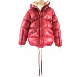 Moncler Kallis Hooded Down Jacket Women And039s Red Logo Patches Domestic Regular