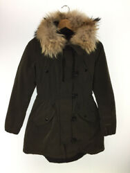 Secondhand Moncler Down Jacket 49868 Aredel 2017 With Fur Womenswear