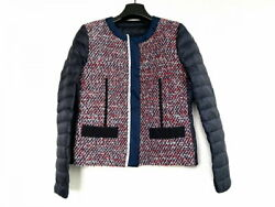 Moncler Down Jacket Size Women And039s Ossau Osseau 45946-80-549ag Navy Red White