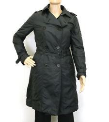 Apparel Moncler Coat Outer Women 's Nylon Polyester Black Secondhand