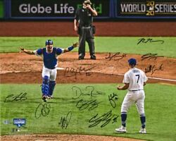 Los Angeles Dodgers Signed 16 X 20 2020 Mlb Ws Champions Team Signed Photo