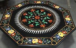 42 Marble Dining Table Top Inlay Rare Stones Octagon Center Coffee Table Ar1186