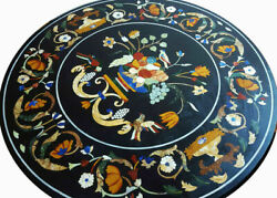 42 Marble Dining Table Top Inlay Rare Stones Round Center Coffee Table Ar1188