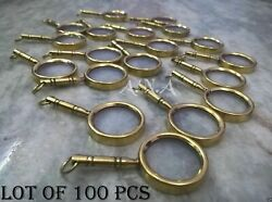 Antique Magnifying Key Ring Lot Of 100 Pcs Marine Collectible Nautical Gift Item