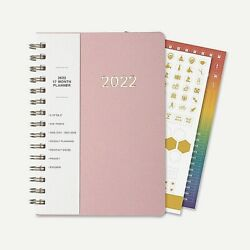 2022 5.75x8.2 Planner Jan To Dec 2022 Full Calendar Year, Pocket And Stickers Pink