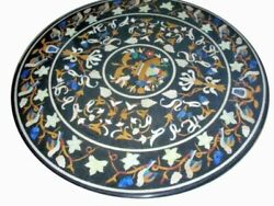 42 Marble Dining Table Top Inlay Rare Stones Round Center Coffee Table Ar1216