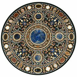 42 Marble Dining Table Top Inlay Rare Stones Round Center Coffee Table Ar1256