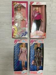Used Takara Tomy Old Barbie Doll Set Of 4 Licca-chan Dead Stock Rare Limited