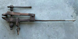 Antique Indian Chief Blacksmith Post Leg Vise 4 Wide Jaws Sold As Is