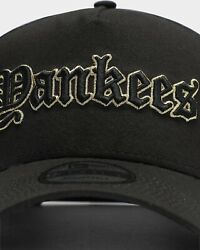 New Era 9forty A-frame Yankees Gothic Name Jeter Ruth Judge Hat Gold Snapback