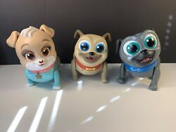 Puppy Dog Pals Lot Of 3 Walking And Talking Toys Excellent Condition Disney Jr
