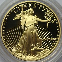 1991 25 1/2 Ounce American Gold Eagle Proof Coin With Box And Coa