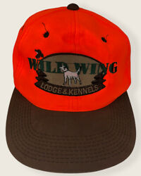Wild Wing Lodge And Kennels Hat Cap Neon Orange Brown Size Adjustable Hunting Dog