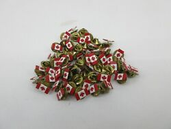 Canadian Flag Maple Leaf Canada Pin Pinback Lapel Tie Small Lot Of 80