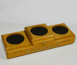Rare The Macallan 12 18 25 Years Old Whisky 3 Tier Wooden Brass Display Pedestal