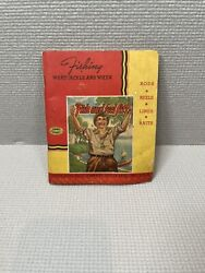 1939 South Bend Fishing Tackle Catalog Rods Reels Lines Baits Lures Vintage Vg+