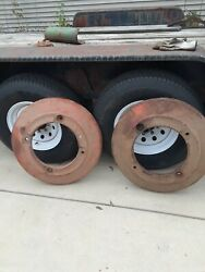 Vintage Oliver Tractor Rear Wheel Weights H1235b, Set, Pair, Used, Pick Up Only