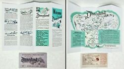 Reproduction Ticket And Map Flyer Disneyland July 17, 1955 - Disney Opening Day