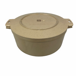 Littonware 5 Qt Tan Speckled Pot With Lid Microwave And Oven Use 4 X 12