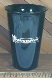 Michelin Tires Advertising Collectible Black Ceramic Drink Tumbler