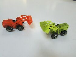 Lot 2 Die Cast Made In Hong Kong Front Loaders Zylmex Mini Macks And Yatming
