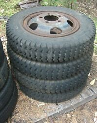 20 Split Rim Wheels And 7.50 - 20 Tires Ford Chevy Dodge