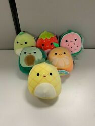 Squishmallow 5 Inch Fruit Collection Set Of 6