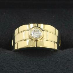 Ring Yellow Gold 1p Diamond Panthere Ring 51 Us Size 6 Auth 080625