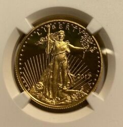 2017 W American Gold Eagle Proof 1/2 Oz 25 Ngc Pf70 Us Mint Signed Ultra Cameo