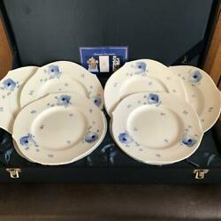 Blue Flowers 19 Plate Set Of