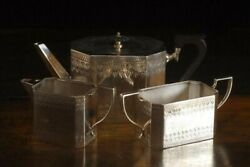 Antique 1887 1933 Made Of Sterling Silver A Nice Tea Service Of Form 63