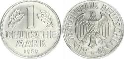 Frg 1 Mark 1969 G Lack Coinage Without Randschrift Auslands-ronde Pure Nickel